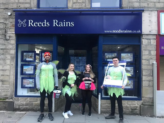 The team at Reeds Rains estate and letting agents in Halifax has been raising funds for local disadvantaged children