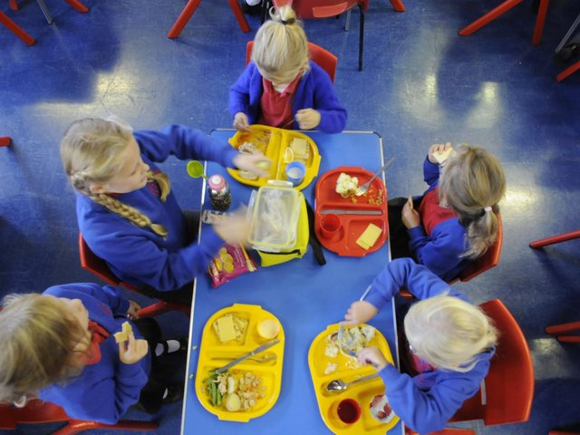 Healthy meal for pupils