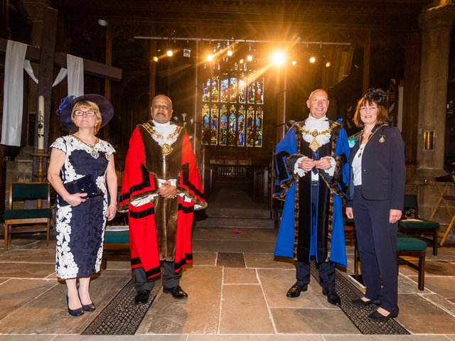 Calderdale Council's Mayor Making ceremony held at Halifax Minster.