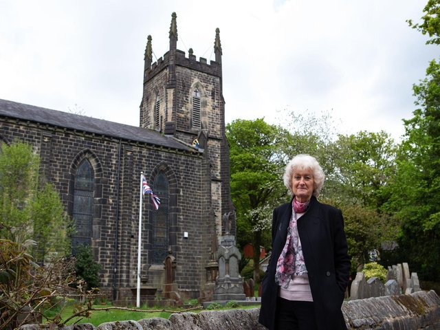 Marianne Hood OBE in Cragg Vale for Vibrant Valley campaign.