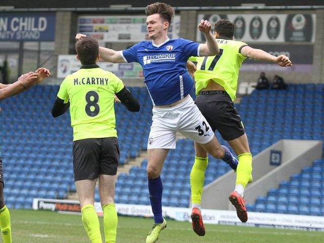 Chesterfield's Fraser Kerr has been out with an ankle injury.