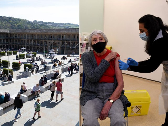 A pop-up vaccination centre will be appearing at the Piece Hall