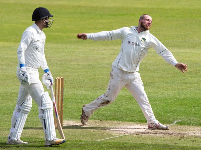 Triangle's Zach Rushton took 4-28 to help dismiss Mytholmroyd for 135 last weekend. Triangle hit 138-5 in reply to claim the Premier Division victory.