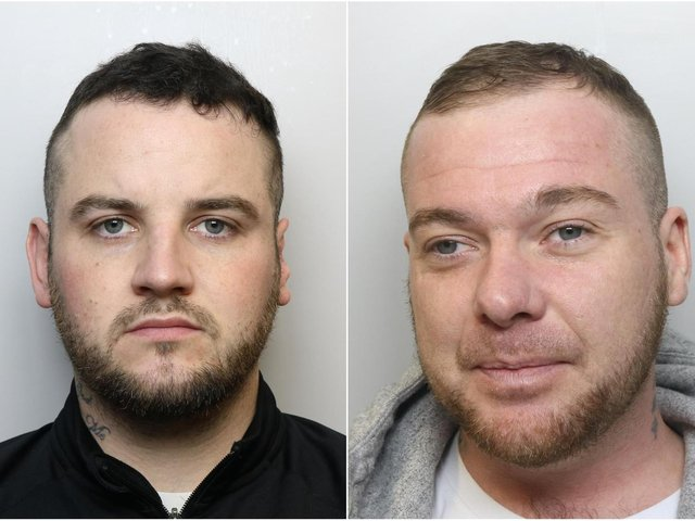Ryan Oakes, 29, and Aiden Comer, 33, have been jailed