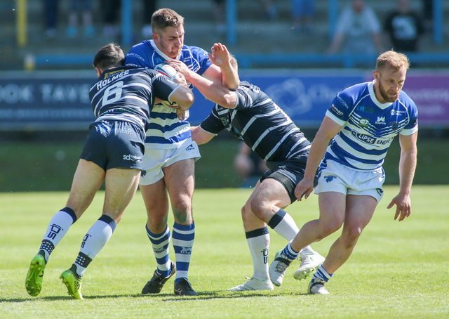 Panthers in action against Featherstone last time out. Photo: Simon Hall