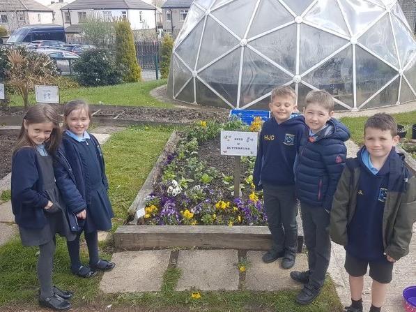 The pupils at Northowram Primary School.