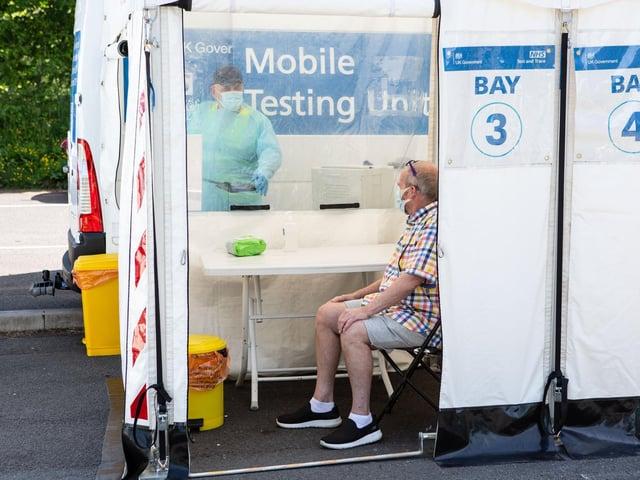 Mobile testing unit in Todmorden