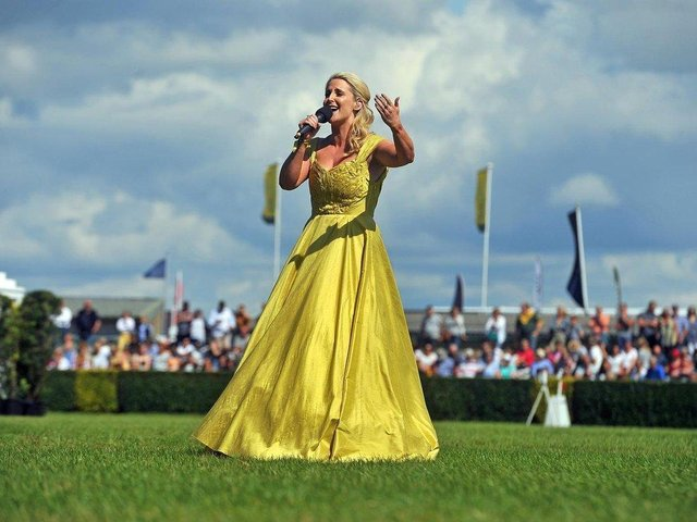 Soprano Lizzie Jones performs at the Great Yorkshire Show