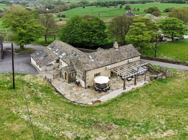 The property within its stunning rural setting