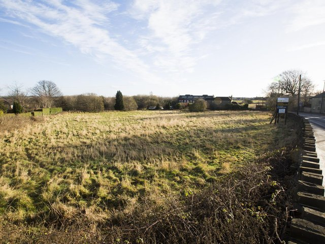 The proposed housing site near to Crosslee in Hipperholme