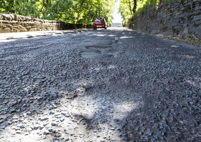 Potholes on Doctor Hill, Halifax.