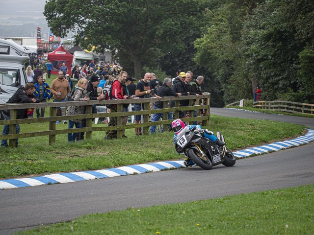 Barry Sheene Festival action from 2019  Supplied by Oliver's Mount TwoFourThree Road Racing Association  Photo taken by John Margetts,