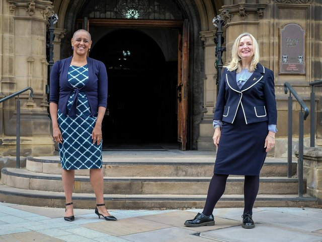 Ms Lowe (left) was nominated by Mayor Brabin (right) to oversee policing and crime in West Yorkshire. The nomination was unanimously approved by a cross-party panel of councillors on Friday.