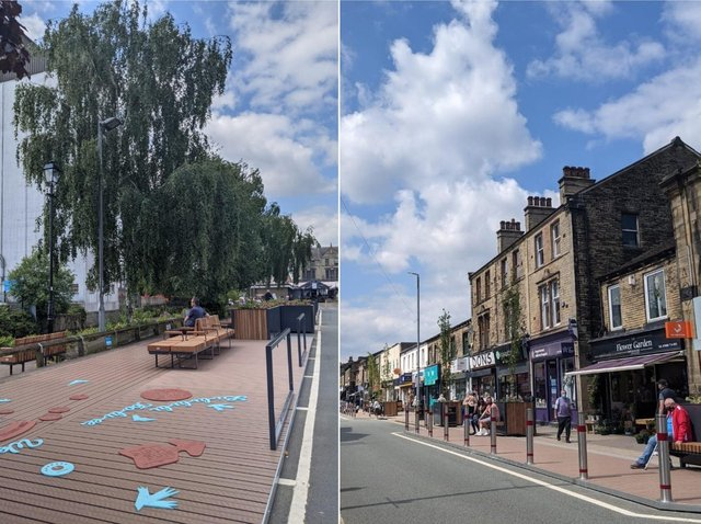 The Parklets in Brighouse town centre
