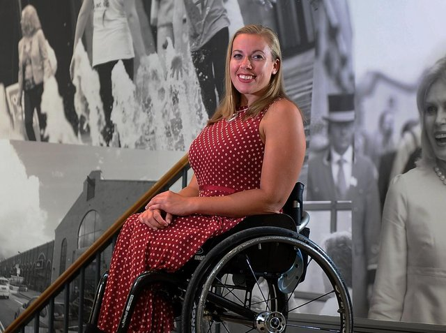 Great Britain Paralympian, Halifax's Hannah Cockroft, was the keynote speaker and took part in a question and answer session
