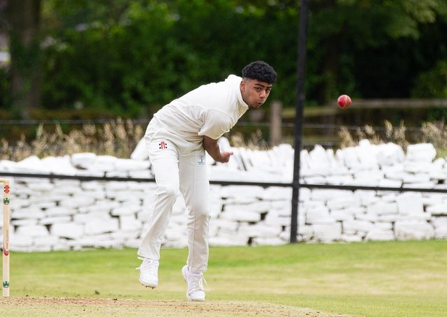 Actions from Bradshaw v Booth, at Bradshaw Cricket Club. Pictured is Hashim Wajid