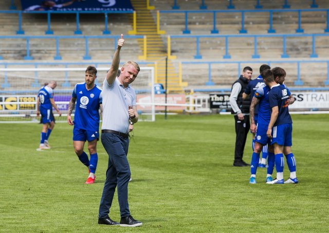 Football - FC Halifax Town v Chesterfield FC. Halifax manager Pete Wild.