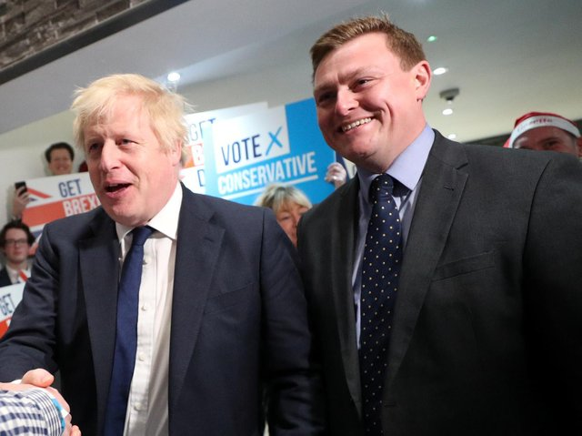 Minister for Welfare Delivery Will Quince, right, with the Prime Minister (Getty Images)