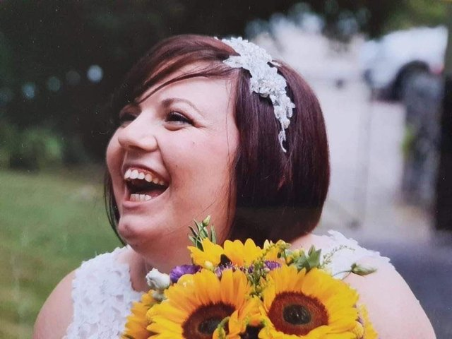 Beth Smith pictured on her wedding day. Family and friends have raised thousands for charity in her memory following her shock death at the age of 31.