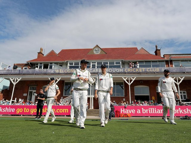 Yorkshire in action at North Marine Road.  Picture by Richard Sellers/SWpix.com
