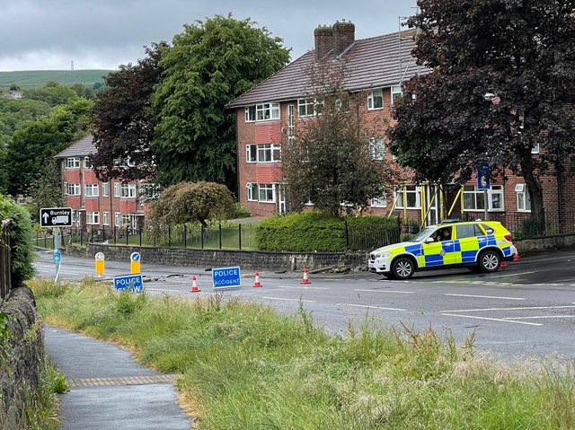 Burnley Road in Todmorden has been closed by police