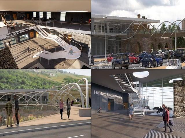 Artist impression of how Halifax train station gateway scheme will look