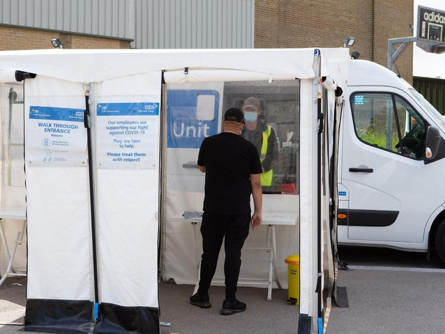 Covid Mobile Testing Unit, at Mixenden Activity Centre, Mixenden