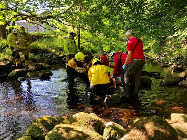 The rescue team helped a man at Hardcastle Crags and a woman in Greetland. Photo by Calder Valley Search and Rescue Team.