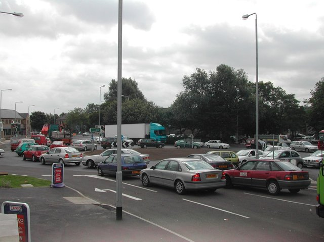 Traffic in Brighouse