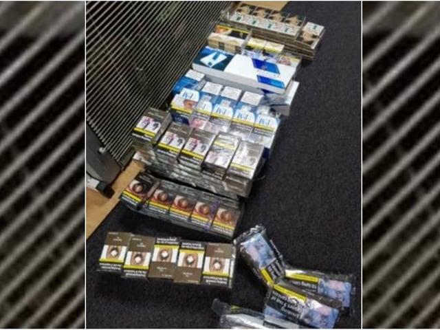 The illegal cigarettes seized in Calderdale