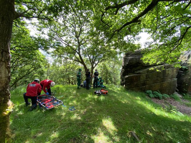 Calder Valley Search and Rescue Team were called out for times last weekend. Photo by the team.