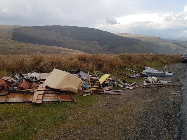 Todmorden resident Howard Gesh took these pictures of fly tipping in Portsmouth, Cornholme,