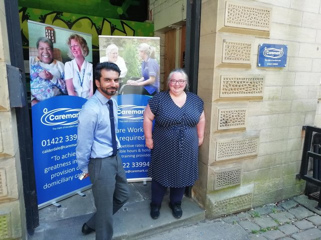 Ash Farid, Managing Director and Sara Butterfield, Care Manager.
