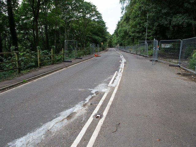 the A6025 Park Road/Elland Road, the main trunk road between Halifax, Elland and Brighouse