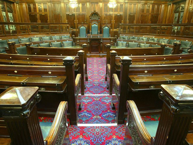 Council chamber in Halifax town hall