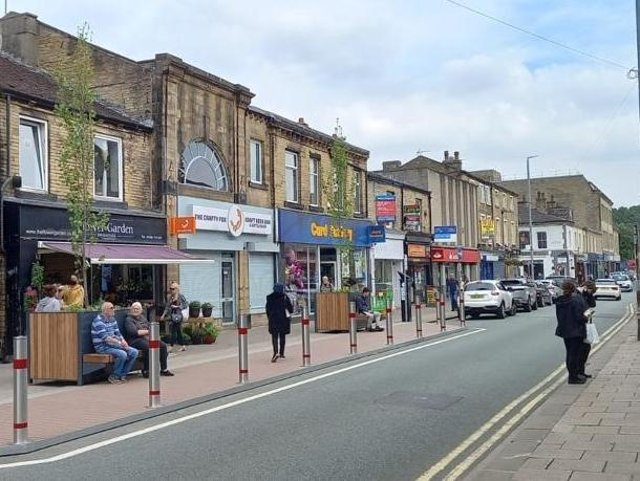 The new parklets in Brighouse town centre
