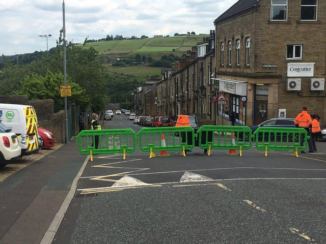 School Streets scheme outside Trinity Academy Sowerby Bridge (Picture Calderdale Community Protection Team)