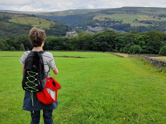 Jude Walker is planning to walk from Hebden Bridge to Westminster to raise awareness of a petition calling for taxes on companies emitting greenhouse gases