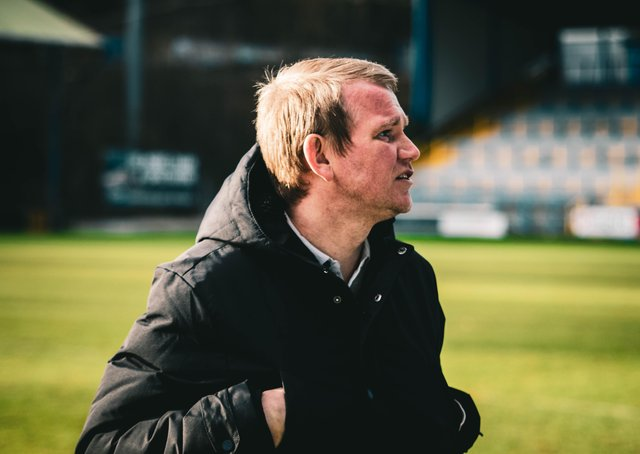 FC Halifax Town v Solihull Moors, The Shay, Saturday, March 13, 2021. Photo: TS Media. Pete Wild