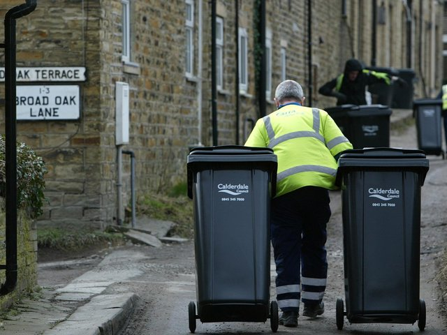 Bin collections in Calderdale