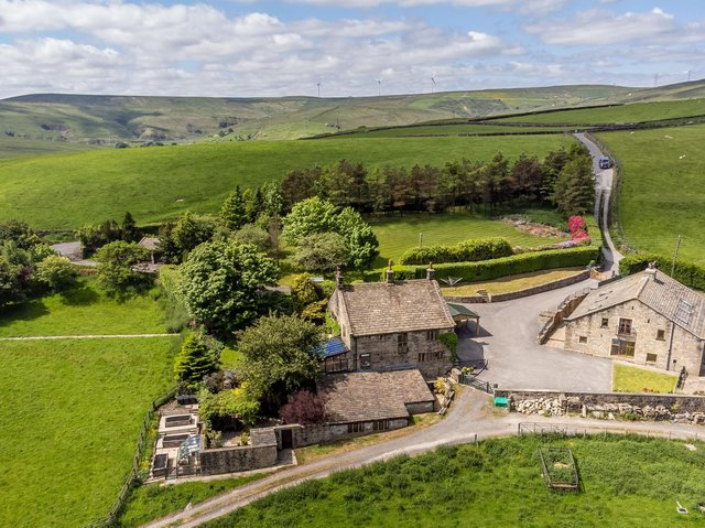 Open countryside surrounds the property that dates back centuries