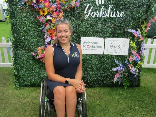 Halifax's Hannah Cockroft who is an ambassador for Welcome to Yorkshire