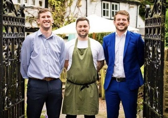 Max Heaton (left), Head Chef Will Webster (center) and Manager Oliver Roberts (right)
