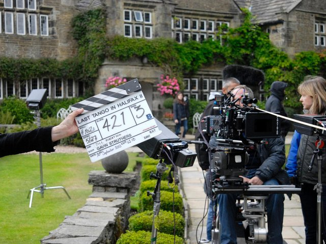 Last Tango filming in Halifax. Photo: Kyte Photography